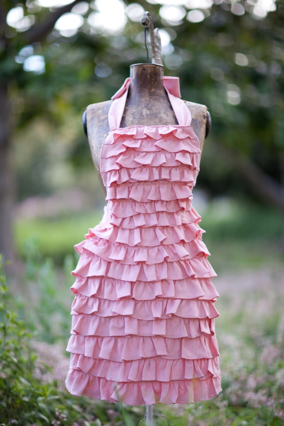 Pink Ruffled Apron Design Costa Kitchen